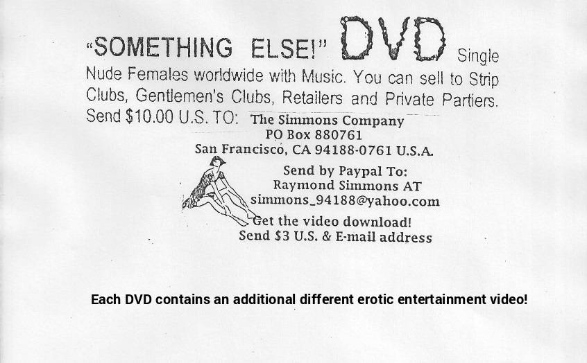 """SOMETHING ELSE!"" Erotic DVDs"