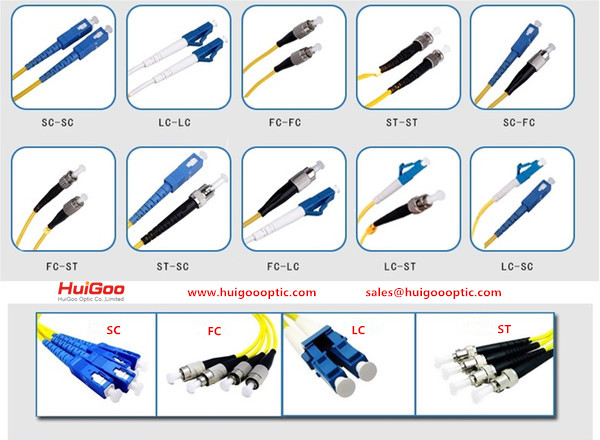 Fiber Optic Jumper -SC/PC-ST/PC FC LC FIBER PATCH CORD/OPTICAL COMPONENTS