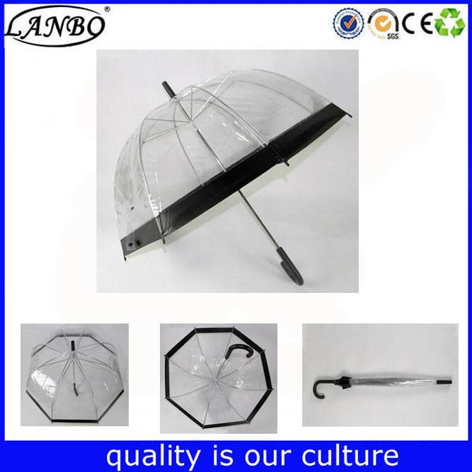 23 inch dome POE umbrella transparent straight umbrella