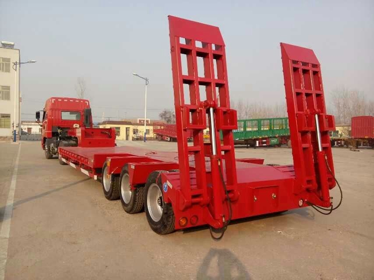 Hongdong brand 60T loading low bed truck trailer
