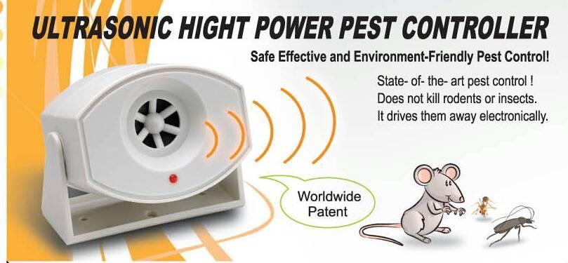 360 degree Ultrasonic high power pest controller