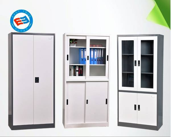 Steel swing door filing cabinet office furniture bookcase garage cabinet