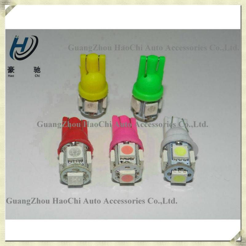 china manufacturer w5w t10 5smd 5050 smd car led light