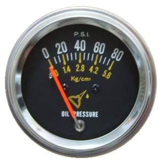 Auto Mechanical Oil Pressure Gauge 80 psi/5.6 bar