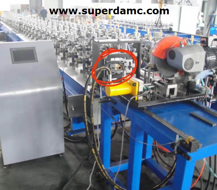 Large cabinet frame 9 bend profiles roll forming machine