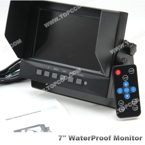 """7"""" Waterproof IP69K Digital LCD Monitor (TOP-D7002)"""