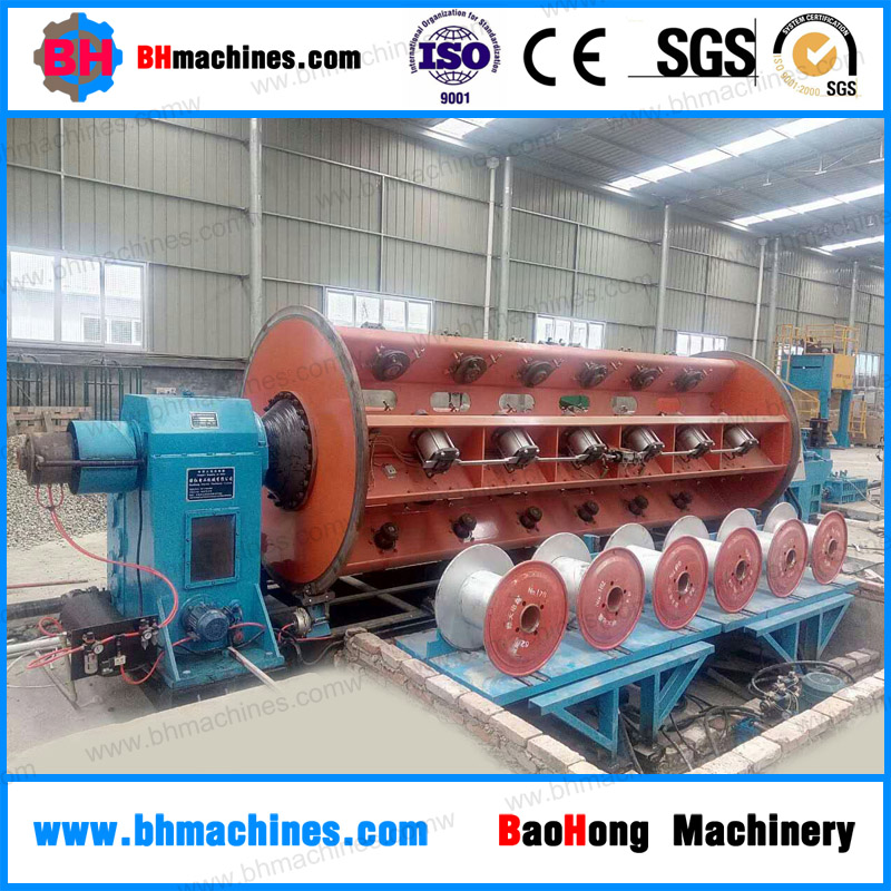Rigid Frame Stranding Machine / Wire Stranding Machine With Floor Batch Loading