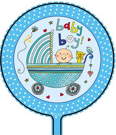 boy theme foil balloon