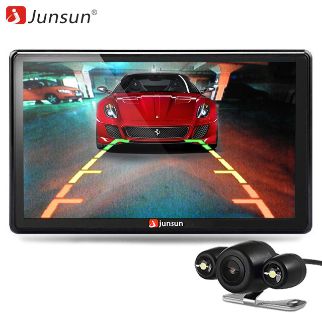 Junsun 7 inch Car GPS Navigation Bluetooth 8GB with Rear view Camera FM MP3 MP4 800MHZ Detailed Maps