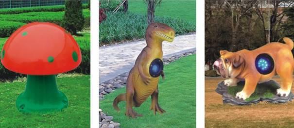 Animal Design Lawn Lamps