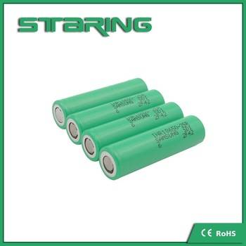 Hot selling Genuine Samsung 25R 18650 battery high amp rechargeable battery INR18650-25R drain batte