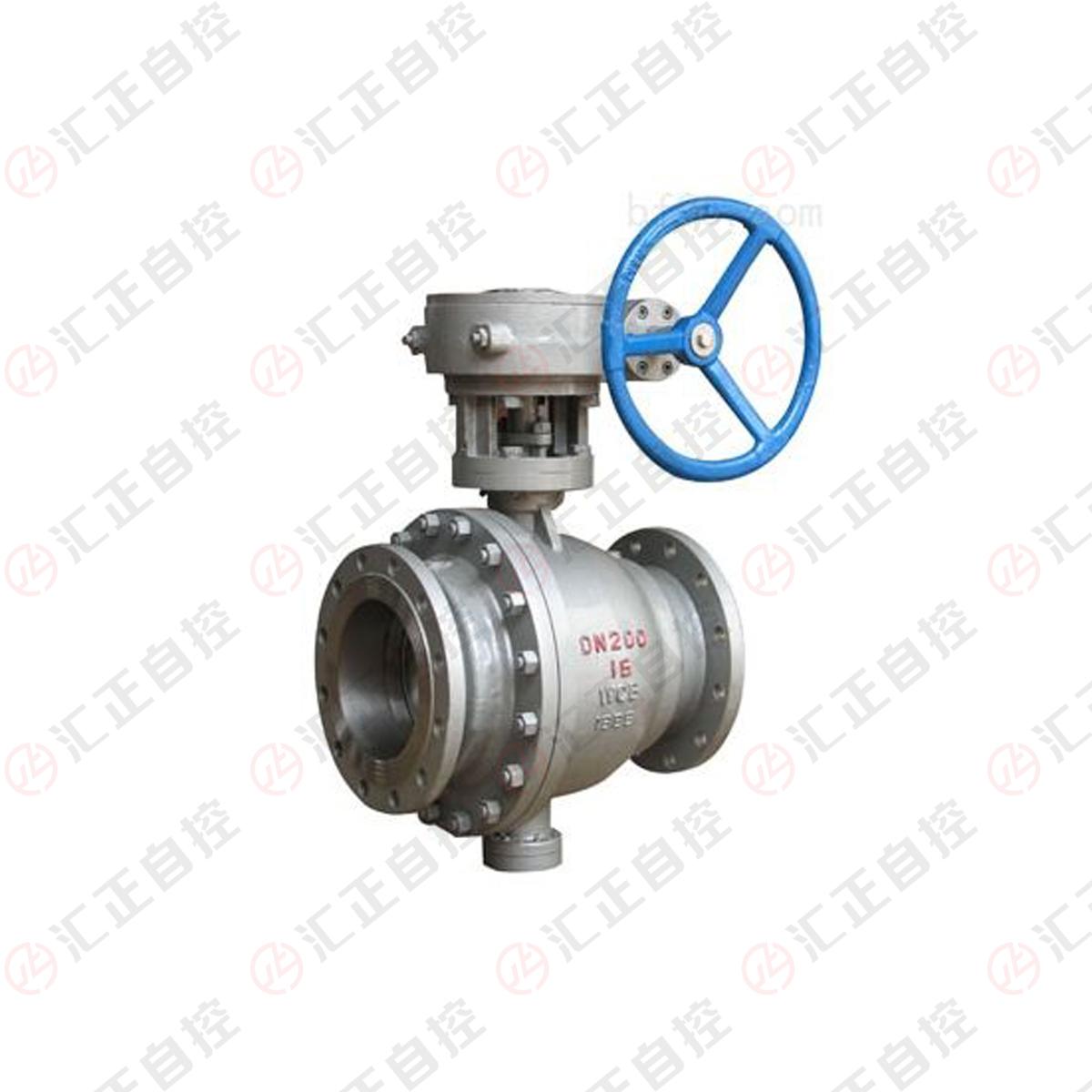 Cast steel trunnion ball valve