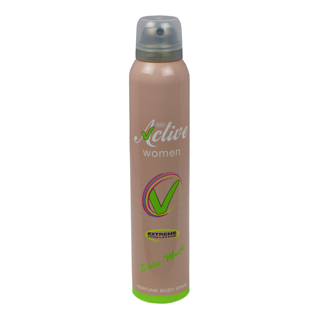 Feah Active Exotic Musk Perfume Body Spray for Women, 200 ml
