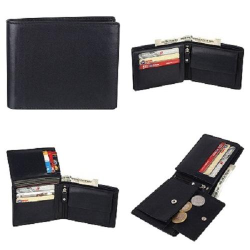 Men's Black Leather Wallets