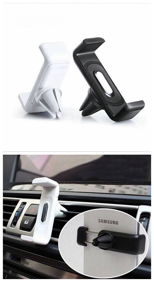 360 Rotation Universal Car Air Vent Mount Cradle Holder Stand for Iphone 6s 6 Samsung