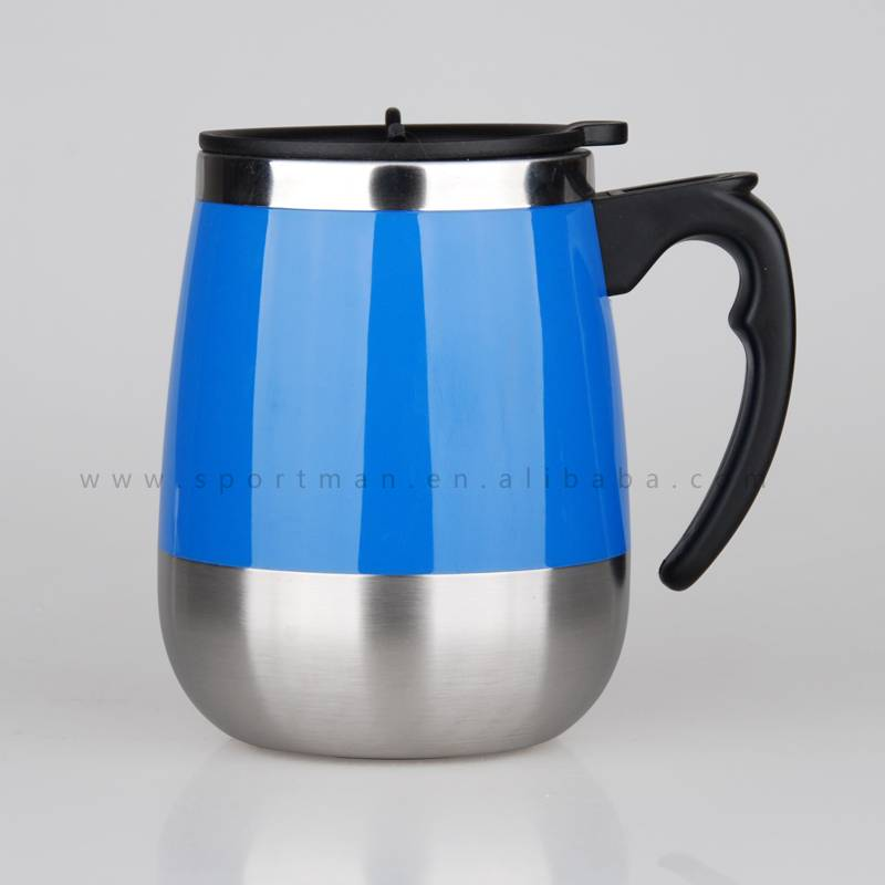 Stainless Steel Travel Office Mug Cup Coffee Tea Hot Cold Water Beaker Flask Car