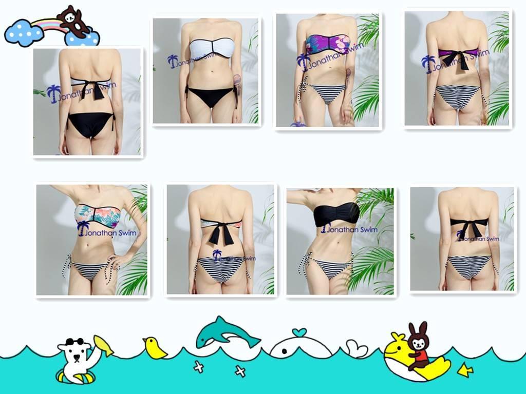 2017 Women's special reversible bandeau bra bikini.