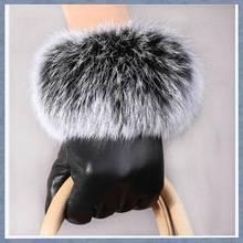 Fashion Rabbit Fur Leather Glove