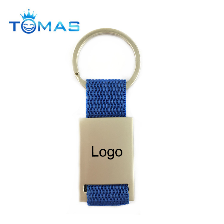 Customized blank metal keychain print own logo