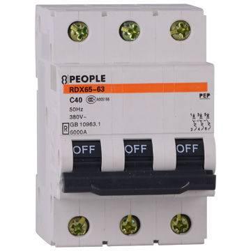 Good quality 63A mini circuit breaker MCB RDX65