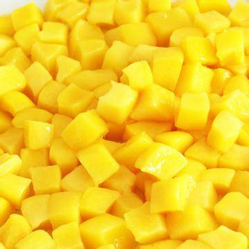 IQF diced yellow peaches