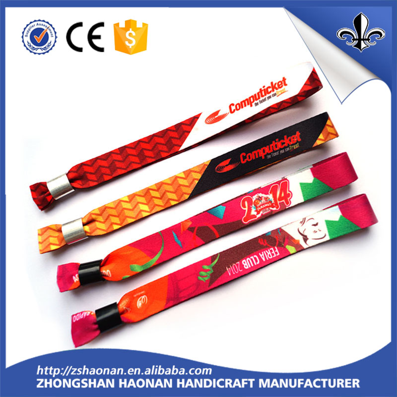 Cheap price Advertising OEM woven wristband