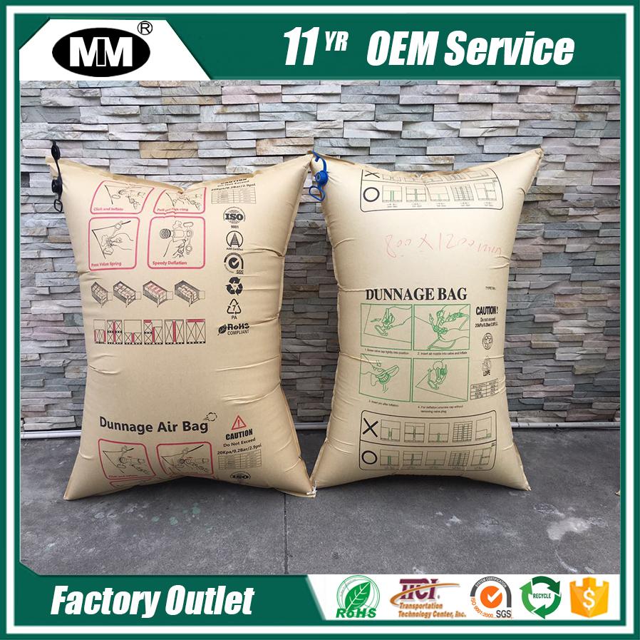 Srs air bag air cushion film bag Kraft container dunnage air bags