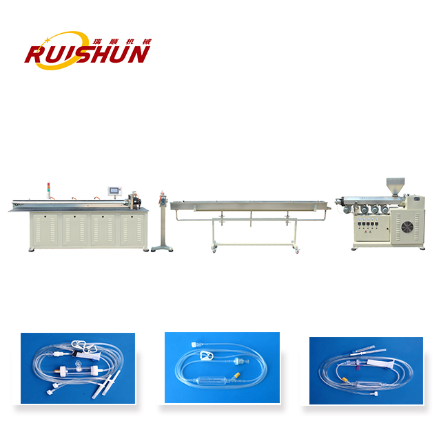 Medical catheter extrusion line