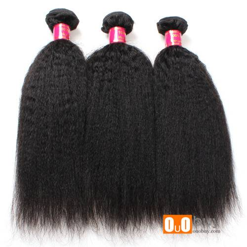 100% Pure Human Hair Virgin Peruvian 10-28inches Yaki Straight 7A Hair Weaving With Good Quality
