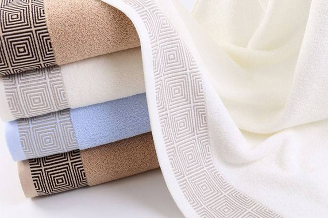 High quality 100% cotton terry bath towel