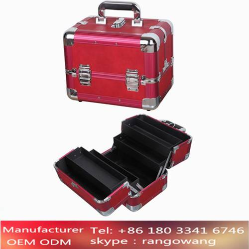 Train Aluminum Beauty Case Hand-carry Make Up Case