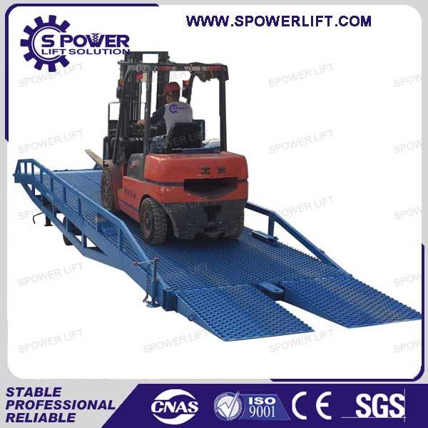 China 12000kg hydraulic container ramp for forklift