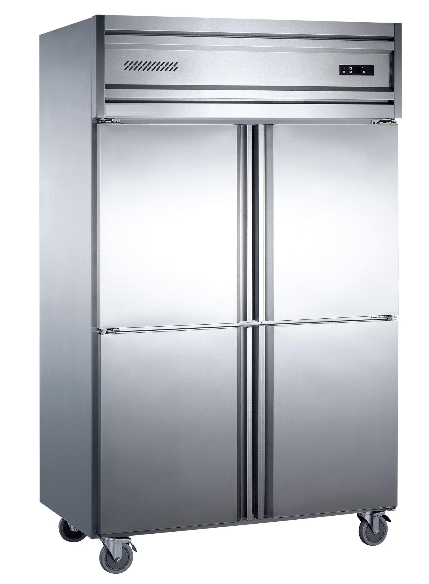 Stainless steel 4 door upright refrigerator