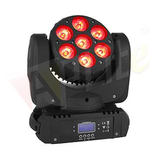 Moving Head Beam 7x15W RGBWA+UV 6in1 Osram LED