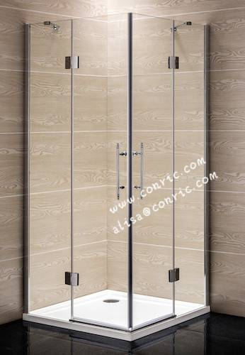 Frameless chrome shower enclosure with good quality