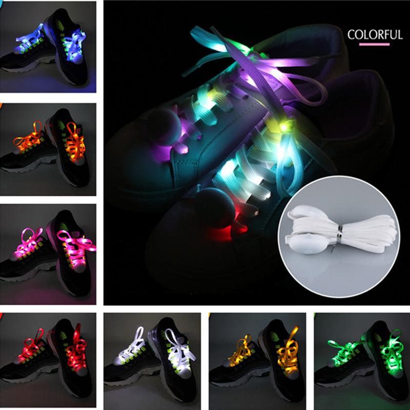 New arrived Fashion LED Shoelace 9 Colors Outdoor Sports Dance Led Shoes Beautiful Shoelace