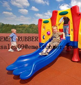 outdoor recycled playground rubber bricks