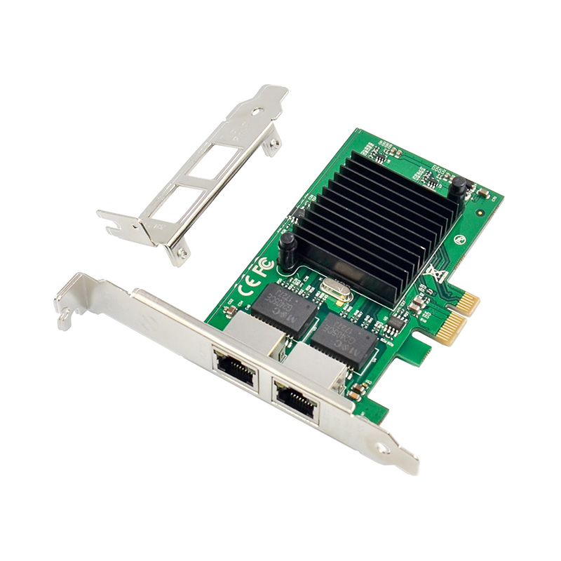 PCI express X1 Dual Gigabit Ethernet Card Intel JL82575 Chipset 2 port 1000Mbps network card