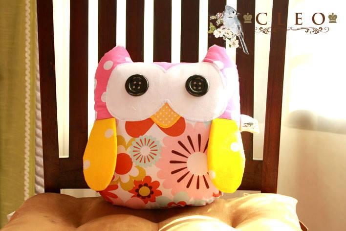 Cute Owl Kid Pillow