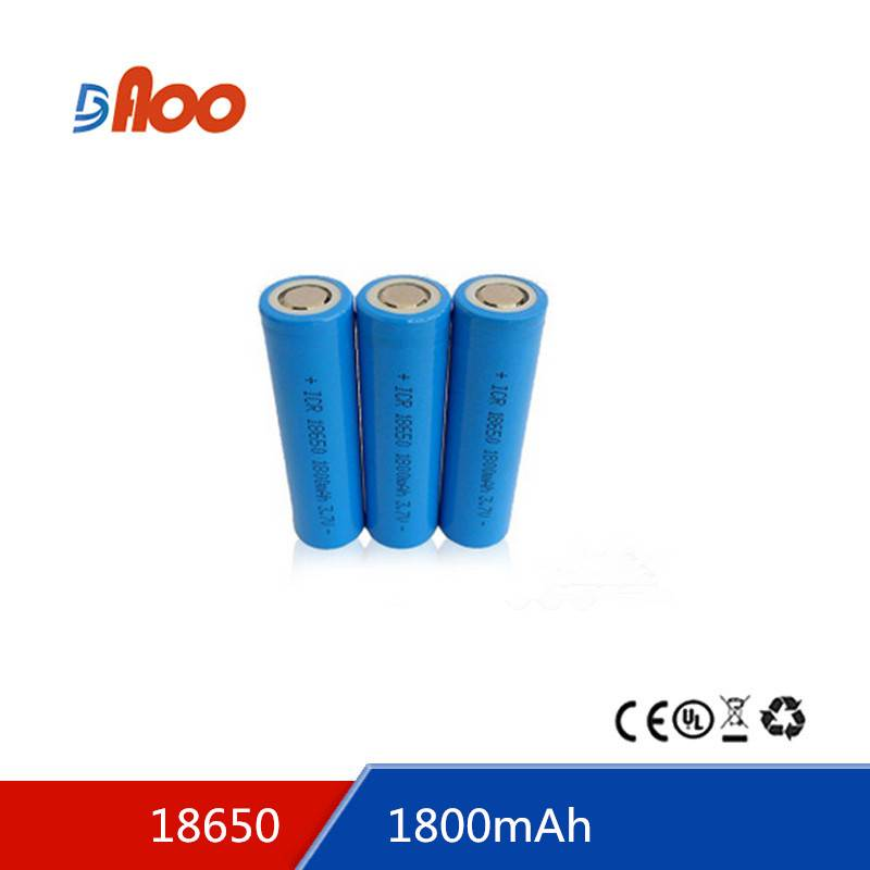 rechargeable lithium ion battery 18650-1800 3.7v 180mAh 18650 battery