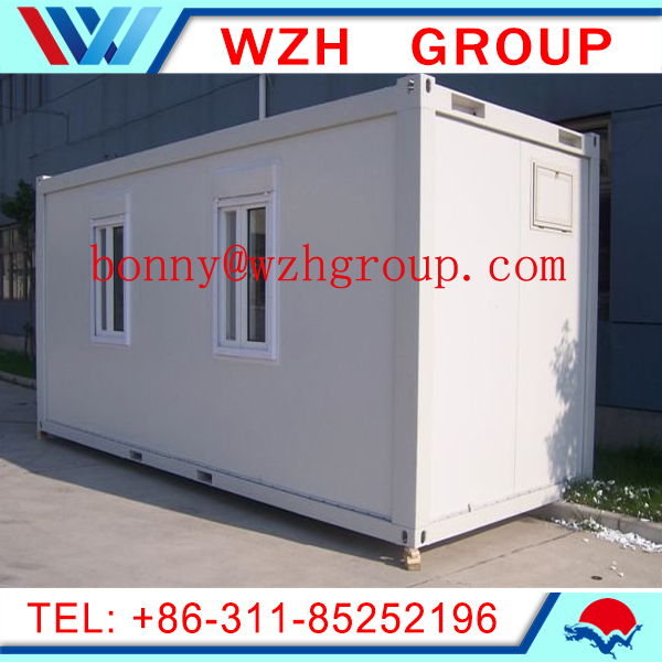 Modern design light steel prefab container house/ simple stylish container house WZH container hous