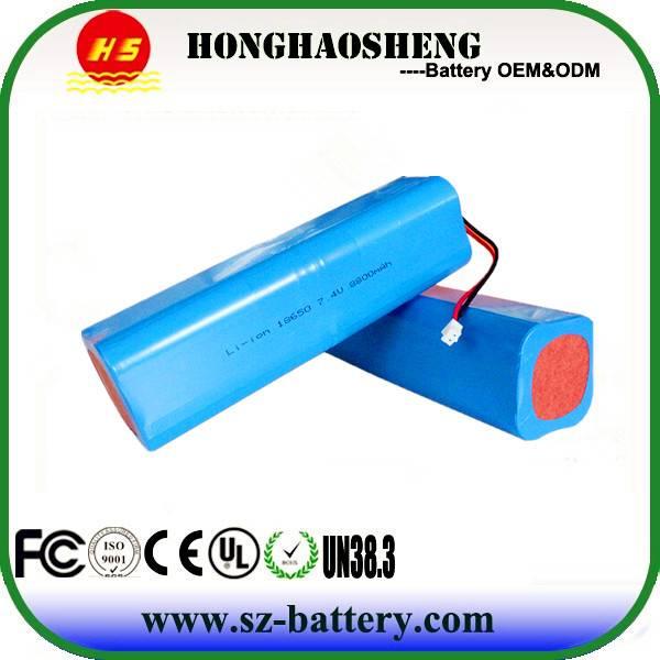 Top Factory Sales Accu  Li ion Battery 18650 7.4V 2000MAH
