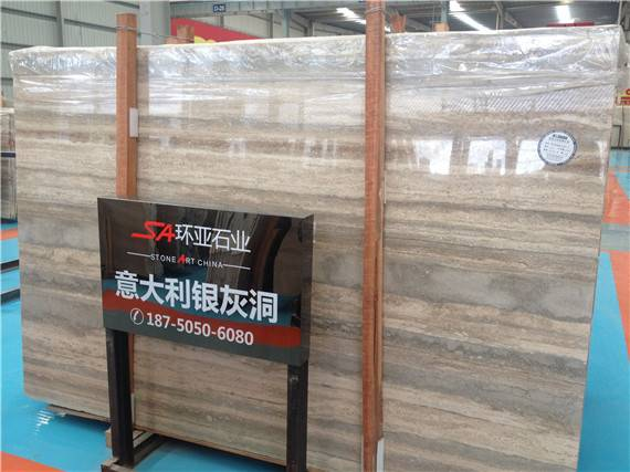Silver Travertine Italy marble natural stone product slab