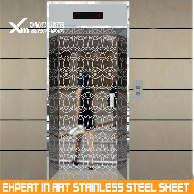 Decorative stainless steel mirror finish sheets for elevator parts