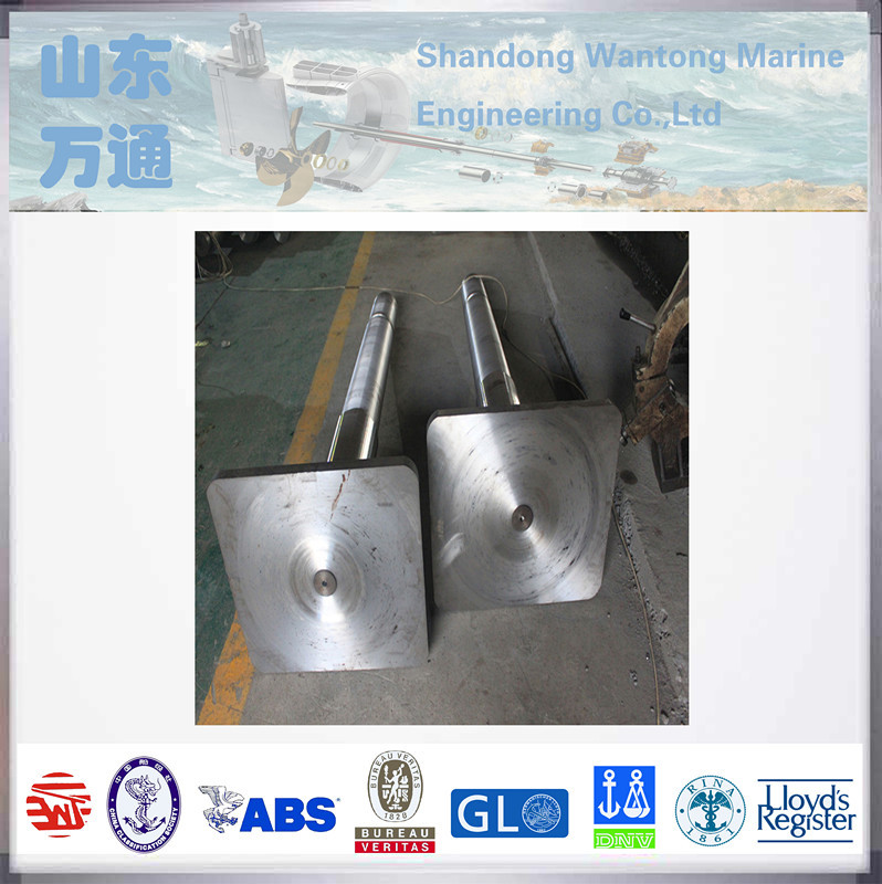 custom precision silver rudder pintle forged steel rudder stock for ship