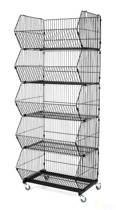 Promotion Metal Stacking Wire Basket Shelf  for Sale