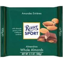 RITTER SPORT 100G WHOLE ALMONDS CHOCOLATE