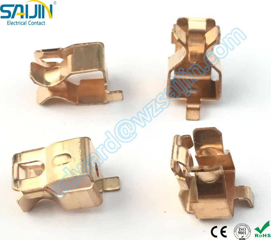 Customized Brass Copper stamping metal contact parts for Wall Socket Plug ex-factory