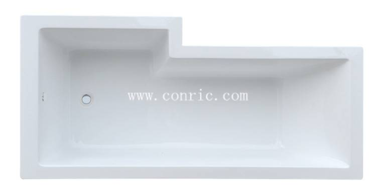 White Irregular drop-in cheap acrylic bathroom bathtub