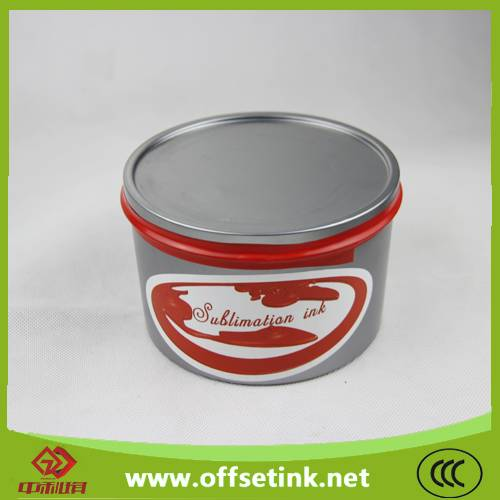 Solvent based sublimation offset printing ink